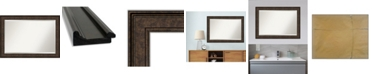 "Amanti Art Ridge Framed Bathroom Vanity Wall Mirror, 41.5"" x 29.50"""