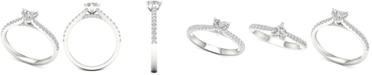 Macy's Diamond Heart Engagement Ring (3/4 ct. t.w.) in 14k White Gold
