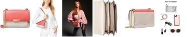 Michael Kors Jade Large Gusset Leather Shoulder Bag