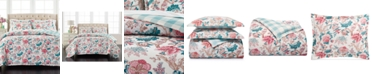 Martha Stewart Collection Percale Jacobean Reversible 3-Pc. Full/Queen Comforter Set, Created for Macy's