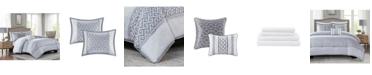 Addison Park Bennett Grey Cal King 9-Pc. Comforter set