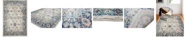 """BB Rugs Meza D113 Ivory and Teal 5' x 7'6"""" Area Rug"""