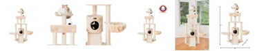 Armarkat Multi-Level Cat Tower with Basket Lounge Cat Tree