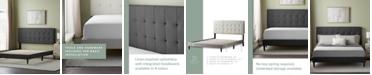 Dream Collection UpholsteredPlatformBed Frame withSquare TuftedHeadboard, Full
