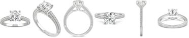 Charles & Colvard Moissanite Engagement Ring (2-1/10 ct. t.w. DEW) in 14k White Gold