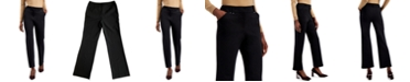 Alfani Solid Straight-Leg Trousers, Created for Macy's