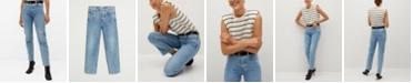 MANGO Women's Premium Straight Jeans