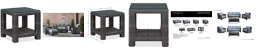 """Furniture Viewport Wicker 22"""" Square Outdoor End Table, Created for Macy's"""