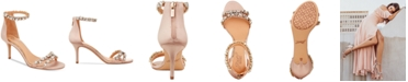 Jewel Badgley Mischka Caroline Embellished Ankle-Strap Evening Sandals