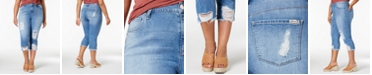 Seven7 Jeans Seven7 Trendy Plus Size Ripped Jeans