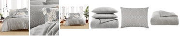 Lucky Brand CLOSEOUT! Reversible 3-Pc. Tile Seed Stitch Full/Queen Comforter Set, Created for Macy's