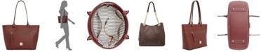 Dooney & Bourke Beacon Ziptop Smooth Leather Tote
