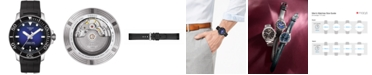Tissot Men's Swiss Automatic Seastar 1000 Powermatic 80 Black Rubber Strap Diver Watch 43mm