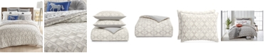 Martha Stewart Collection CLOSEOUT! Geo Clip Bedding Collection, Created for Macy's