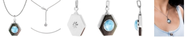 """Marahlago Multi-Stone Shadow 21"""" Pendant Necklace in Sterling Silver"""