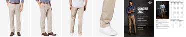 Dockers Mens' Signature Lux Cotton Straight Fit Stretch Khaki Pants