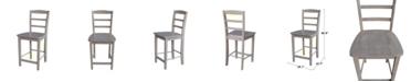 "International Concepts Madrid Counterheight Stool - 24"" Seat Height"