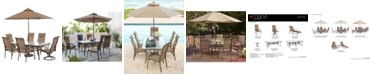 "Furniture Oasis Outdoor Aluminum 7-Pc. Dining Set (84"" x 42"" Dining Table, 4 Dining Chairs and 2 Swivel Rockers), Created for Macy's"