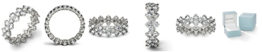 Charles & Colvard Moissanite Round Cluster Ring (3-5/8 ct. t.w. Diamond Equivalent) in 14k White Gold