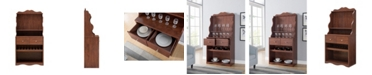 Furniture of America Kaylani Vintage Walnut Bakers Rack