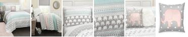 Lush Decor Elephant Stripe 4-Pc Set Twin Quilt Set