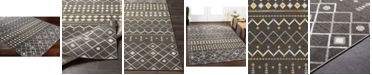 """Abbie & Allie Rugs Rafetus ETS-2321 Charcoal 18"""" Area Rug Swatch"""