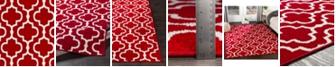 """Abbie & Allie Rugs Seville SEV-2315 Bright Red 18"""" Area Rug Swatch"""