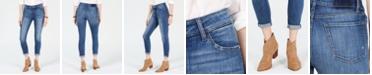 M1858 Kristen Cuffed Ripped Jeans