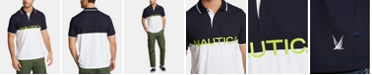 Nautica Nautica Men's Blue Sail Knockout Classic-Fit Moisture-Wicking Polo, Created for Macy's