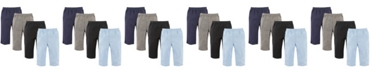 Luvable Friends Pants, 4-Pack, Boy Solids, 0-24 Months