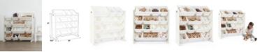 Humble Bee Kids Wood Toy Organizer with 12 Plastic Bins
