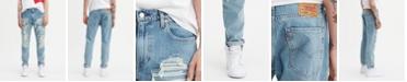 Levi's Men's Ripped 502 Regular Tapered Sneaker Jean Hi Ball Roll
