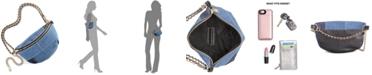 Steve Madden Drama Denim Patch Belt Bag