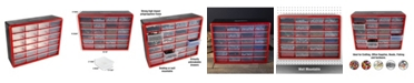 Trademark Global Storage Drawers - 24 Compartment organizer Desktop or Wall Mount Container - 24 Bins by Stalwart