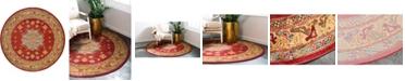 Bridgeport Home Harik Har1 Red 6' x 6' Round Area Rug