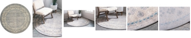 Bridgeport Home Bellmere Bel1 Gray 6' x 6' Round Area Rug
