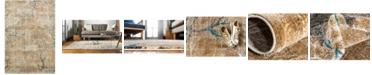 Bridgeport Home Aroa Aro1 Light Brown 7' x 10' Area Rug