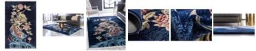 Bridgeport Home Sahil Sah9 Navy Blue 4' x 6' Area Rug