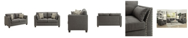 Acme Furniture Laurissa Loveseat with 4 Pillows