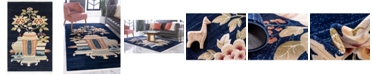 Bridgeport Home Sahil Sah7 Navy Blue 4' x 6' Area Rug