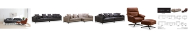 Furniture Plassey Leather Sectional Sofa Collection