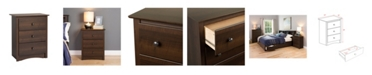 Prepac Fremont 3-Drawer Tall Nightstand
