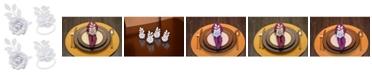 Vibhsa Rose Napkin Ring Set of 4