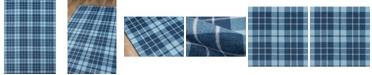"Novogratz Collection Novogratz District Dis-9 Blue 3'3"" x 5' Area Rug"