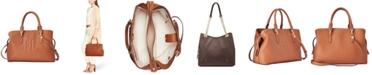 Lauren Ralph Lauren Hayward Pebbled Leather Satchel