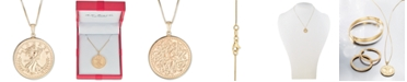 """Macy's Coin Double-Sided 18"""" Pendant Necklace in 10k Gold"""