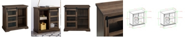 Walker Edison Modern TV Stand with Glass Door Accent