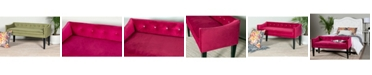 Leffler Home Gracie Button Tufted Upholstered Bench