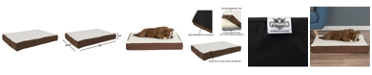 """PetMaker Orthopedic Sherpa Top Pet Bed with Memory Foam and Removable Cover 30"""" x 20.5"""" x 4"""""""