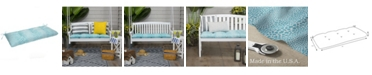 EF Home Decor EF Home Decor Indoor/Outdoor Reversible Tufted Loveseat/Bench Cushion With Ties, Catwalk